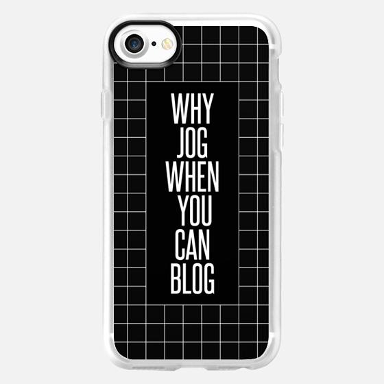 why jog when you can blog 2 dark - Wallet Case