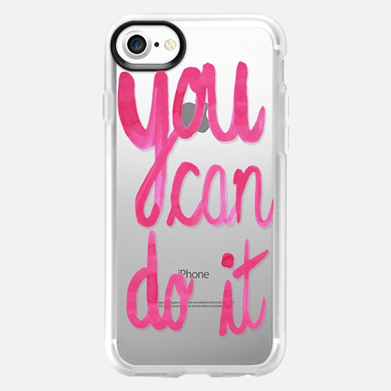 You can do it! pink strecth - Wallet Case