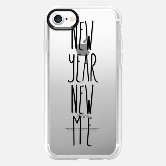 new year new me transparent black - Wallet Case