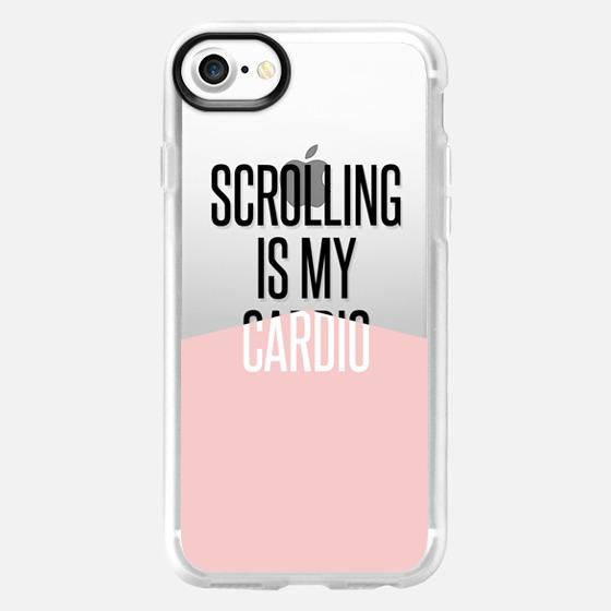 scrolling is my cardio / pantone rose quartz - Wallet Case