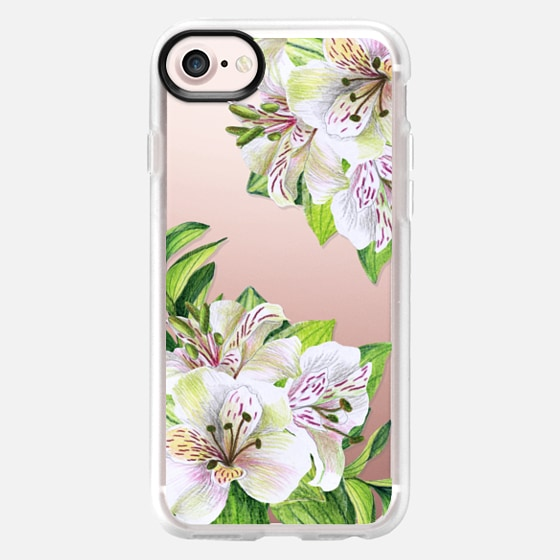 White orchids. Watercolor flowers - Wallet Case