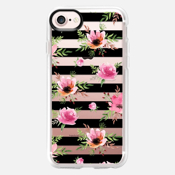 Floral pattern. Watercolor - Classic Grip Case