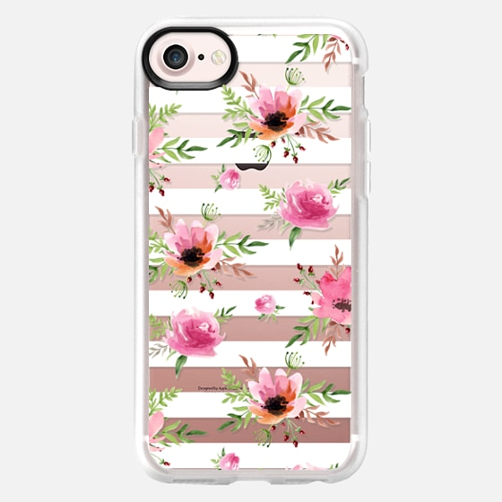 Floral white pattern. Watercolor - Classic Grip Case