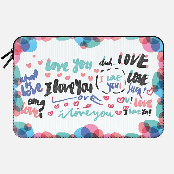 Scattered Love • Laptop Sleeves - Macbook Sleeve