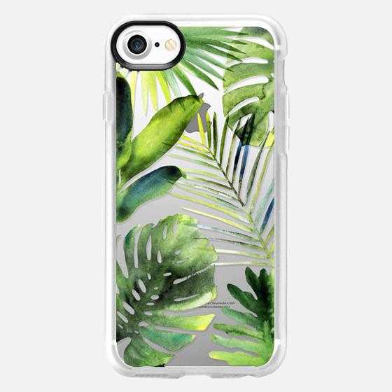 Tropical leaves - Wallet Case