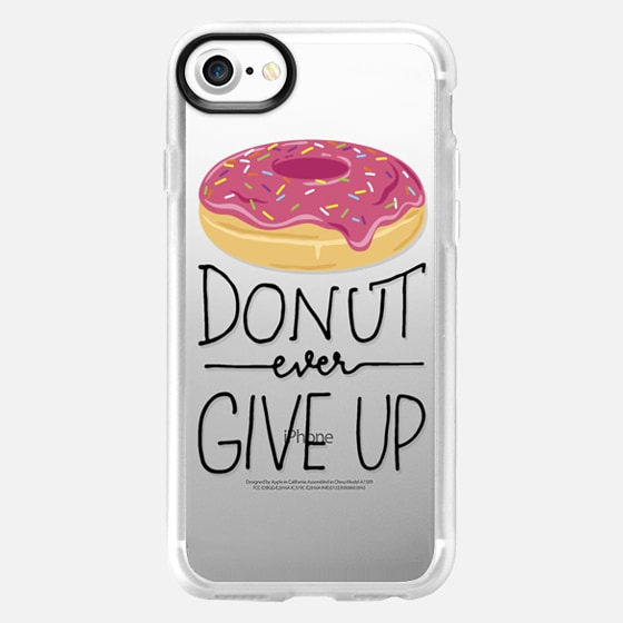 Donut Ever Give Up - Wallet Case