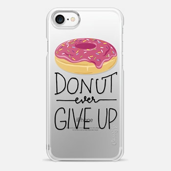 iPhone 7 ケース Donut Ever Give Up
