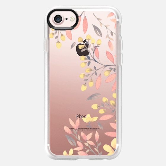 Peachy Spring Florals // Watercolor Flowers Transparent - Wallet Case