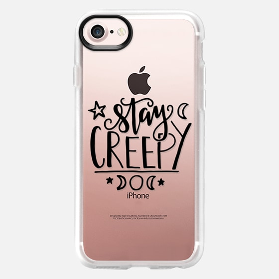 Stay Creepy // Hand Lettering // Transparent - Classic Grip Case