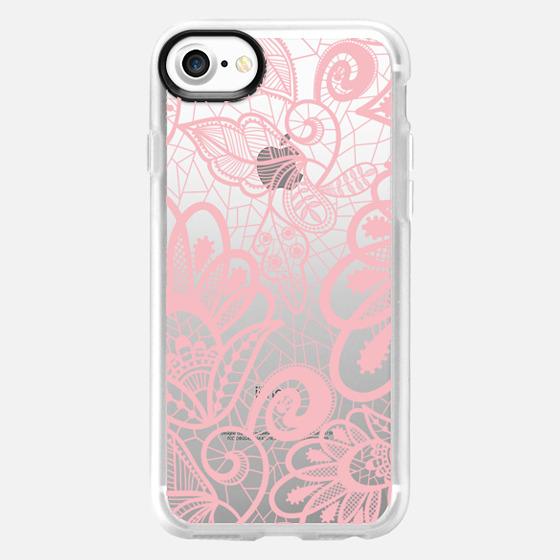 Flower Pink Lace - Wallet Case