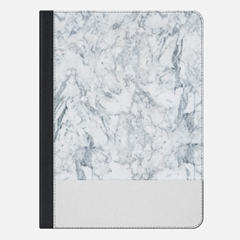 "iPad Pro 9.7"" Case Modern blue white trendy marble texture pattern"