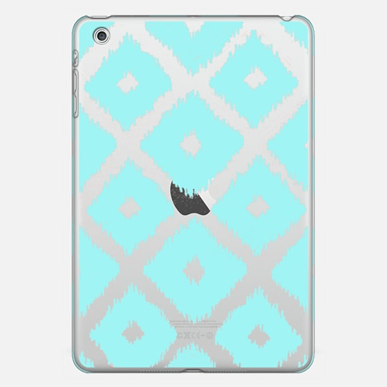 Modern teal coral trendy ikat pattern  - Classic Snap Case
