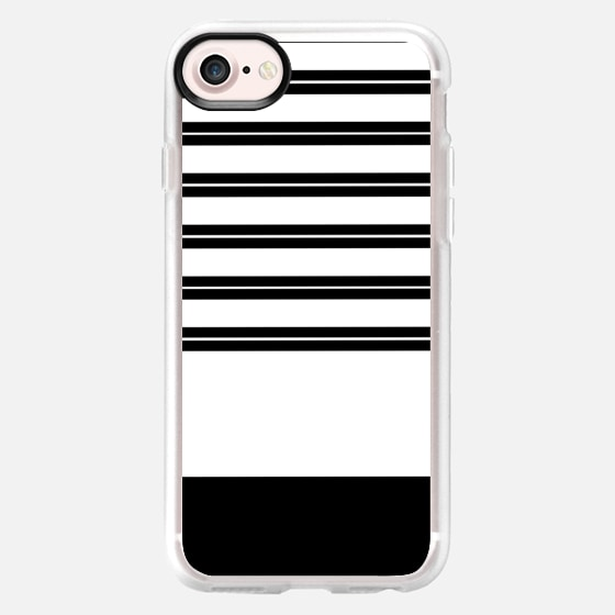 Modern cool black and white minimalist trendy striped pattern - Wallet Case