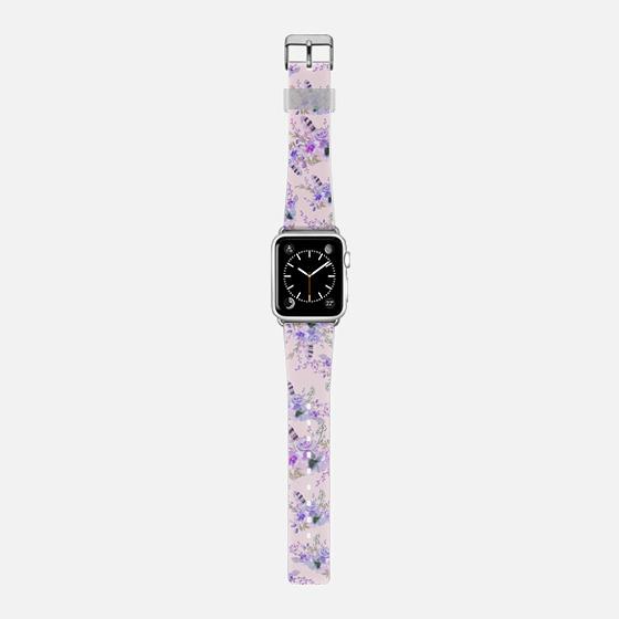 Botanical pink lavender watercolor vintage bohemian floral -