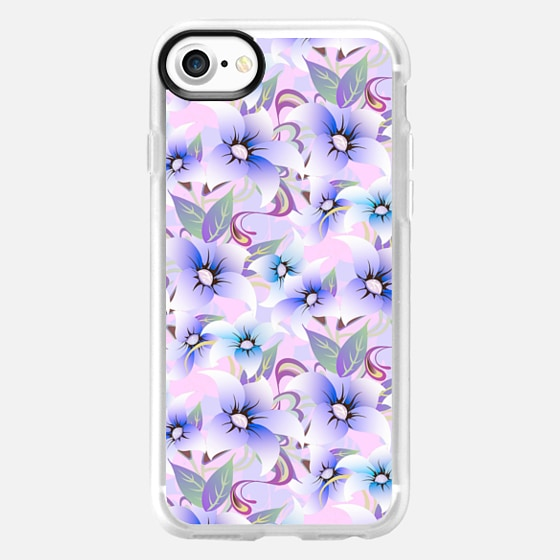Modern abstract pink lavender floral pattern -