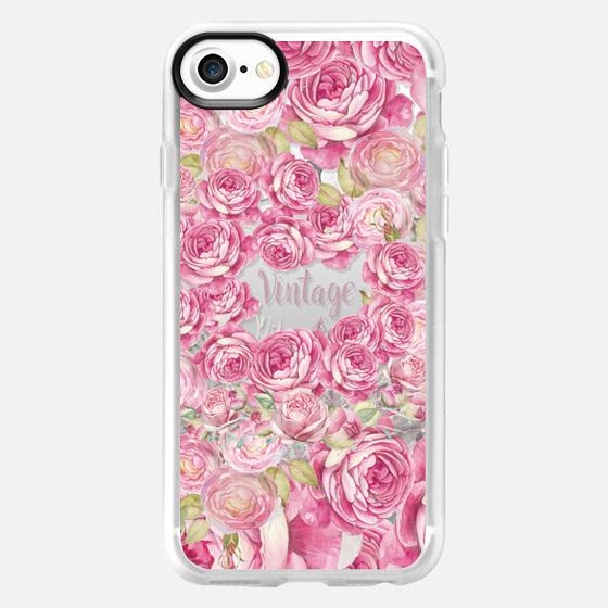 Elegant blush pink  tipo vintage roses floral - Classic Grip Case