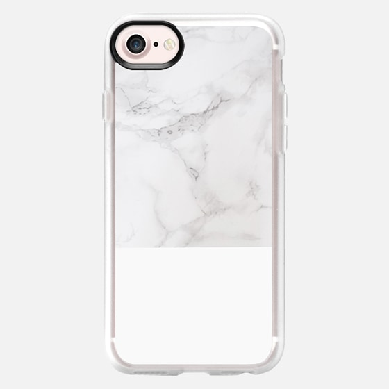 Modern pastel gray white elegant chic marble - Classic Grip Case
