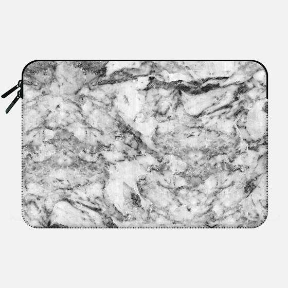 Elegant gray white modern marble texture patterns - Macbook Sleeve