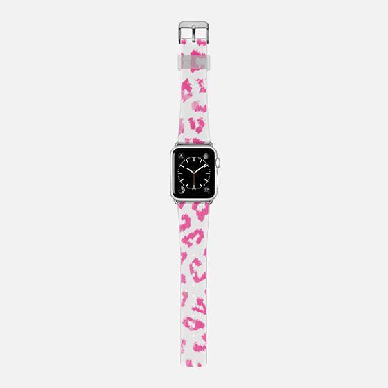 Pink girly watercolor animal print pattern -
