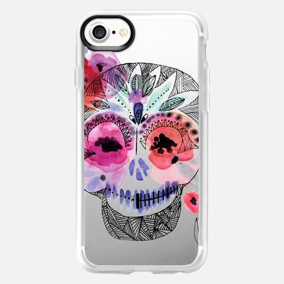 Boho Floral Skull - Classic Grip Case