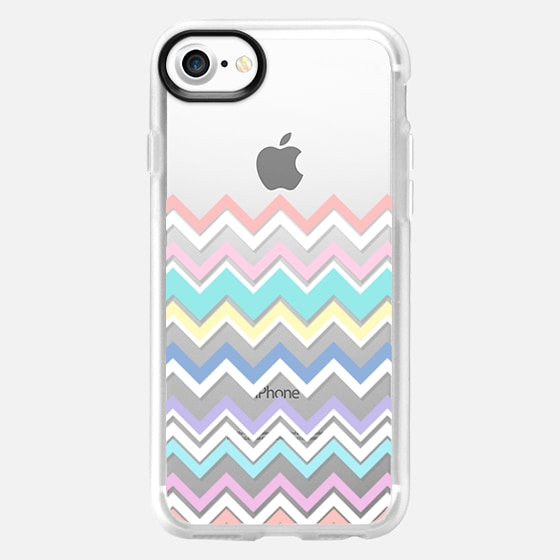 Multicolor Pastel Chevron Transparent  - Wallet Case