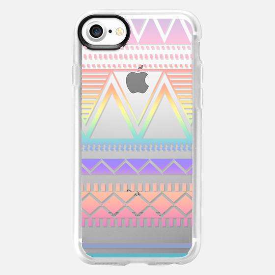 Cotton Candy Rainbow Tribal Transparent  - Wallet Case