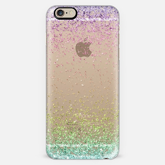 Colorful Ombre Sparkly Glitter Burst  -