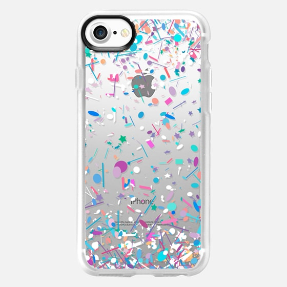 Girly Confetti Explosion Transparent  - Wallet Case