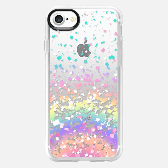 Pastel Rainbow Confetti Explosion Transparent  - Wallet Case