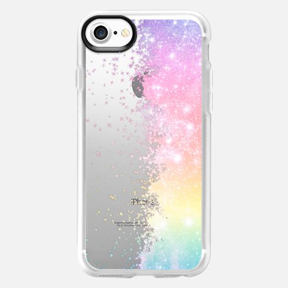 Pastel Rainbow Galaxy Stars Burst  - Wallet Case