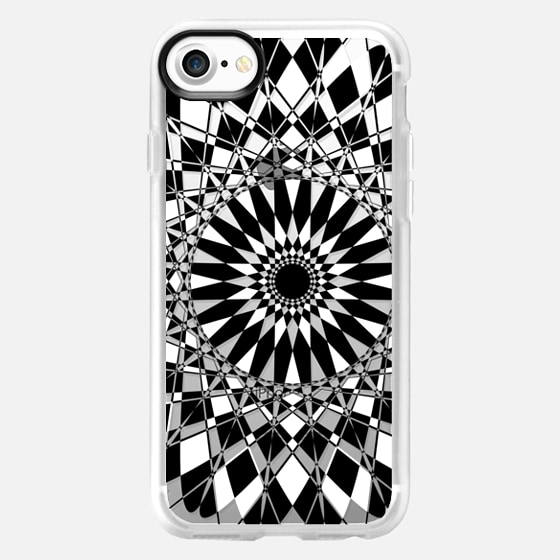 Black and White Feather Star Transparent - Wallet Case