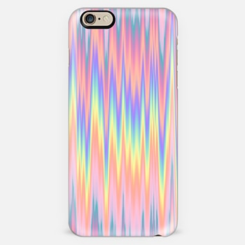 Pastel Rainbow Oil Zigzag Waves
