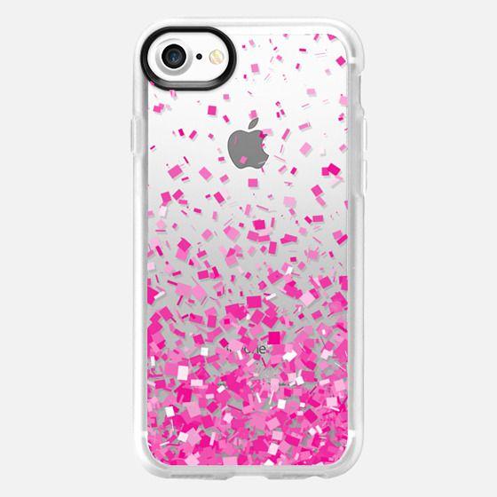 Pink Party Confetti Explosion Transparent  - Classic Grip Case
