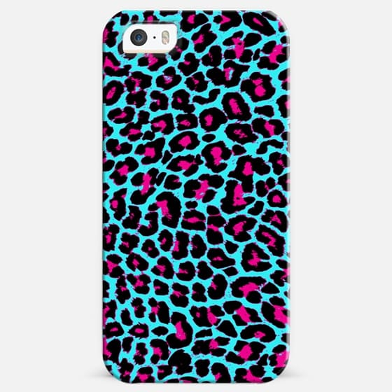 Turquoise Fuchsia Pop Leopard  - Classic Snap Case