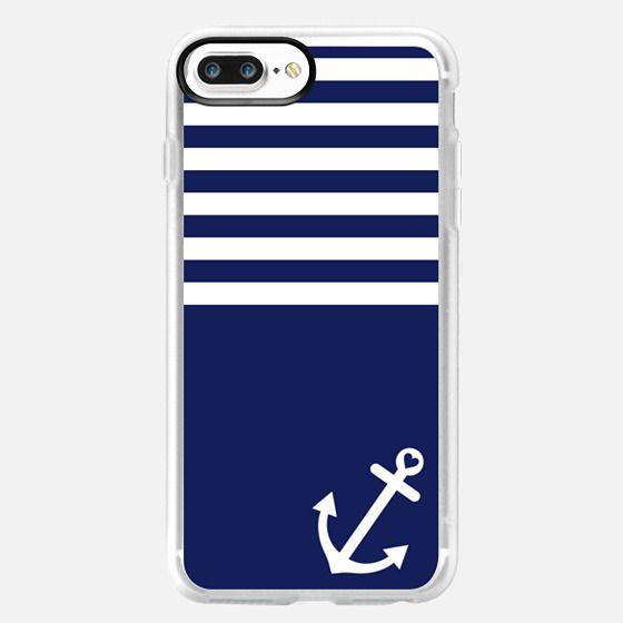 Navy Blue Love Anchor Nautical - Classic Grip Case