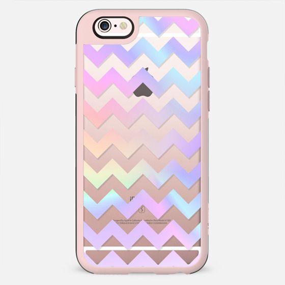 Pastel Rainbow Chevron Transparent - Glitter Case