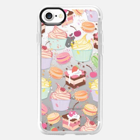 Cupcake, macaroon and a chocolate cake :) sweet pattern  - Wallet Case