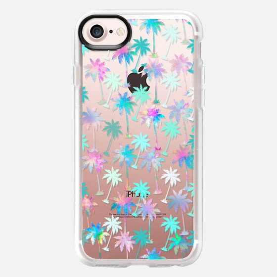 Palm tree pattern ( rainbow watercolor painting) - Wallet Case