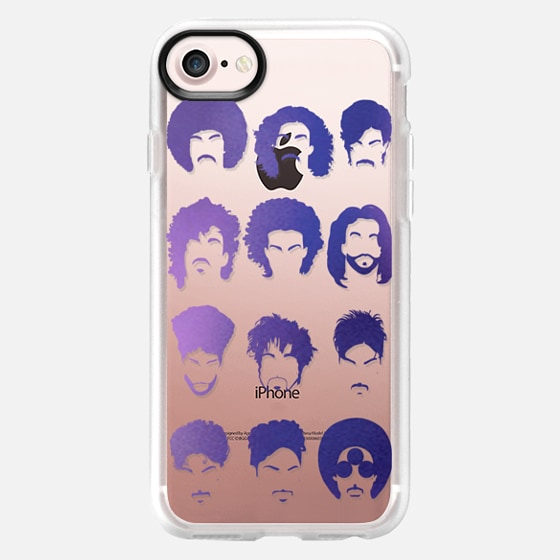 Purple rain, Prince tribute. Transparent case -