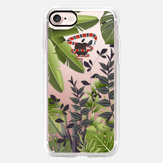 Jungle Floral With Coral Snake Wrapped On The Apple Logo