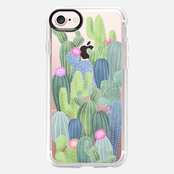 Watercolor Cactus pattern / cacti on transparent background - Classic Grip Case