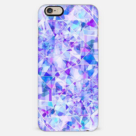 blue diamond pattern iphone 6 case by marta olga klara