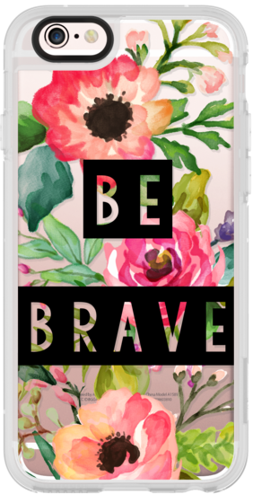 Be Brave Block Watercolor Floral