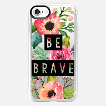 iPhone 7 เคส Be Brave Block Watercolor Floral