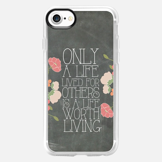 Only A Life Lived For Others Is A Life Worth Living Albert Einstein Chalkboard - Wallet Case