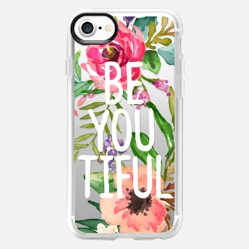 iPhone 7 เคส Be YOU Tiful Watercolor Floral