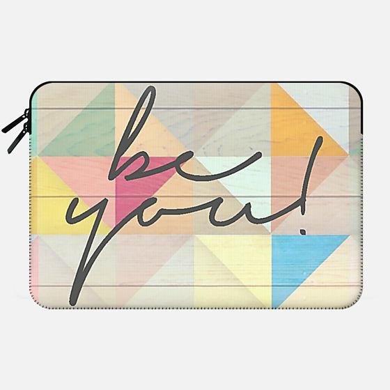Be You Wood Geo - Macbook Sleeve