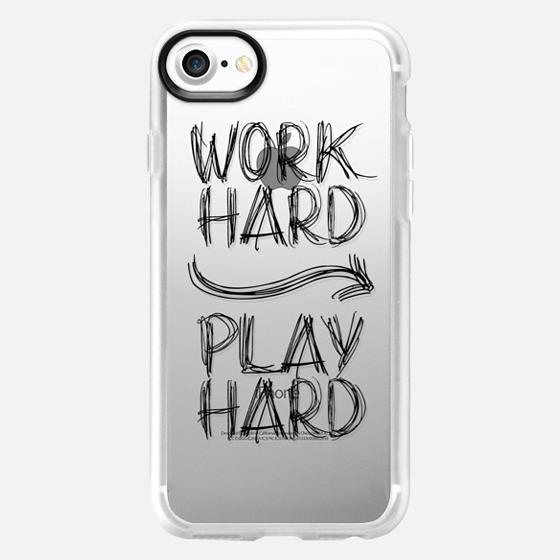 Work Hard Play Hard  Doodles - Wallet Case