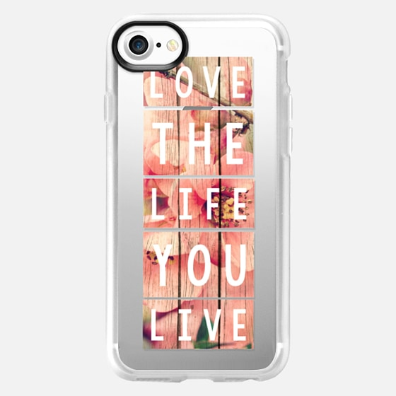 Love the Life You Live Blossoms - Wallet Case