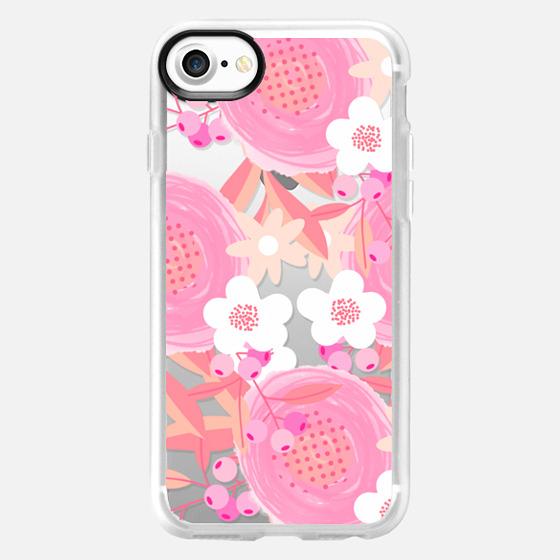 Pink Floral Breast Cancer Awareness  - Wallet Case